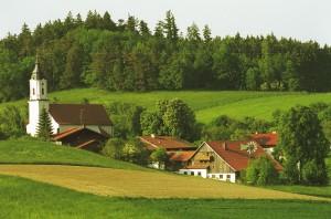 ein Bild vom alten Pilgerhof im Frühjahr